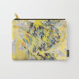 Yellow Flower Storm Carry-All Pouch