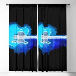 Watercolor guitar Blackout Curtain