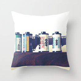 film cartridges old school (film photograph) Throw Pillow
