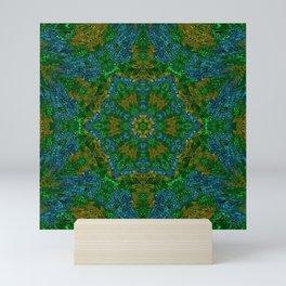Yellow Green and Blue Kaleidoscope Mini Art Print