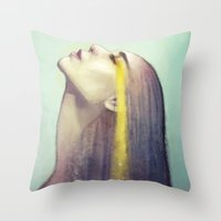constellation Throw Pillows featuring Constellation by Anna Dittmann