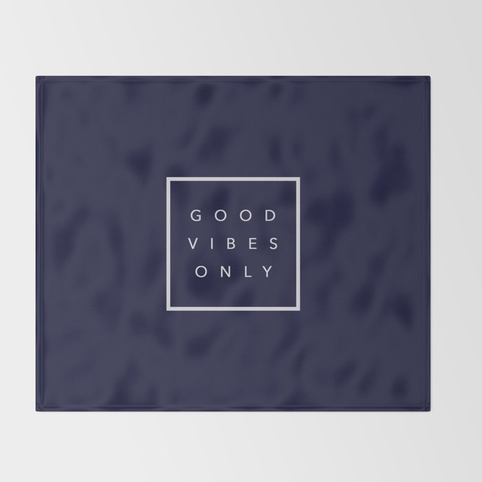 Good vibes only new shirt art vibe love cute hot 2018 style fashion sticker iphone cover case skin m Throw Blanket