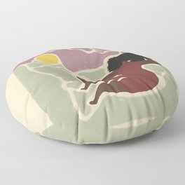 a peaceful place Floor Pillow