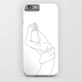 Fashion illustration line drawing - Jens iPhone Case