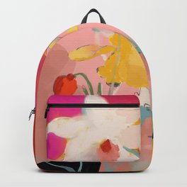 blooming abstract pink Backpack