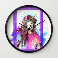 libra Wall Clocks featuring Libra by Sara Eshak
