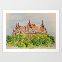 Texas State (SWT) University Old Main Building, San Marcos, TX Art Print
