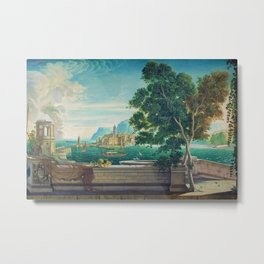 Capriccio of a Mediterranean Seaport Landscape No. 2 by Rex Whistler Metal Print