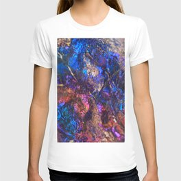Blue Rainbow Oil Slick Crystals T-shirt
