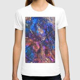 Blue Rainbow Oil Slick Crystals T-shirt