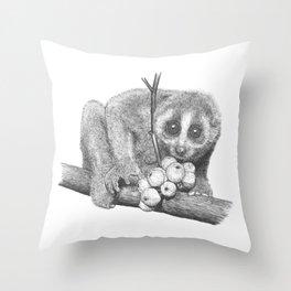 Slow Loris (Kera Duku) Throw Pillow