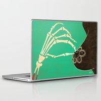 dia de los muertos Laptop & iPad Skins featuring Dia de los Muertos by Francesco Tortorella