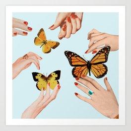 Social Butterflies Art Print