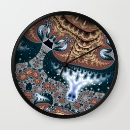 Trees in Meditation Fractal Wall Clock