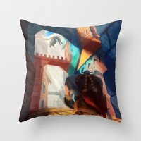 dragons Throw Pillows featuring Dragons by youcoucou