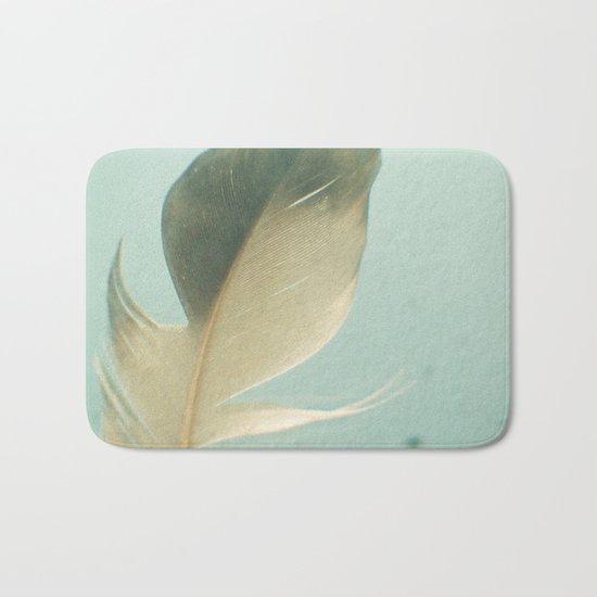 Grey Feather Bath Mat