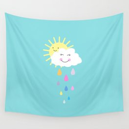 Happy Spring Days  Wall Tapestry