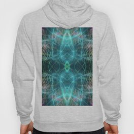 Abstract Light-trails Mandala 777 Hoody