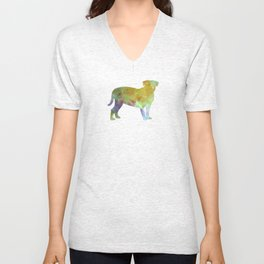 Dogo de Bordeaux in watercolor Unisex V-Neck