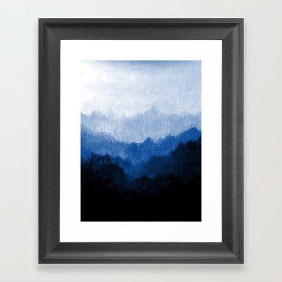 Mists - Blue Framed Art Print