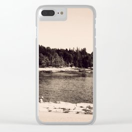 Vintage Acadia Clear iPhone Case