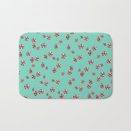 Peppermint Candy in Aqua Bath Mat