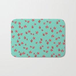 Peppermint Candy in Aqua Bath Mat