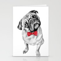percy jackson Stationery Cards featuring Percy Pug by 13 Styx