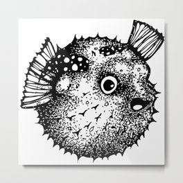 Mr. Blowfish Metal Print