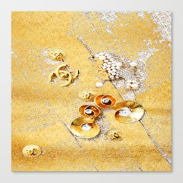 COCO GLAMOUR AND VINTAGE ACCESORIES Canvas Print