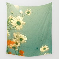 daisy Wall Tapestries featuring Daisy by Cassia Beck