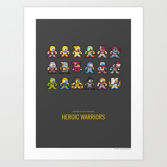 Mega MotU: Heroic Warriors Art Print