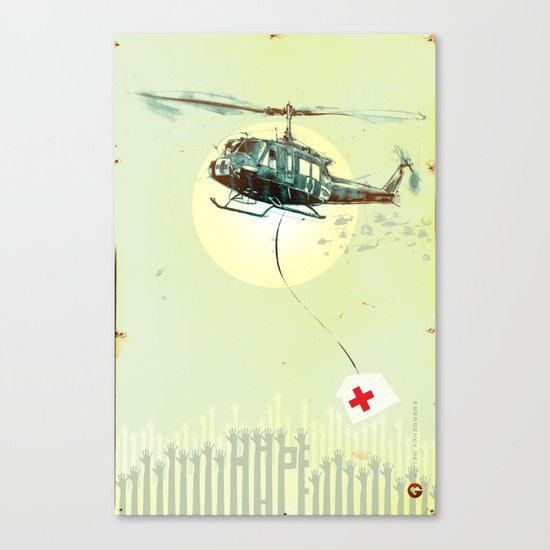 "Glue Network Print Series ""Emergency Relief"" Canvas Print"