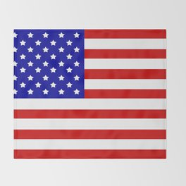 Original American flag Throw Blanket