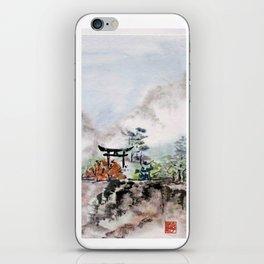 Torii Gate to Misty Mountain iPhone Skin
