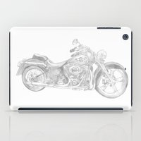 motorcycle iPad Cases featuring Motorcycle by Maria Archilla