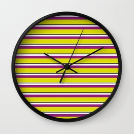 Yellow Stripes Wall Clock