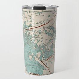 Vintage Map of Georgian Bay Travel Mug