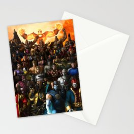 All character in MortalKombat game Stationery Cards