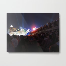 Mesmerized By The Lights Metal Print
