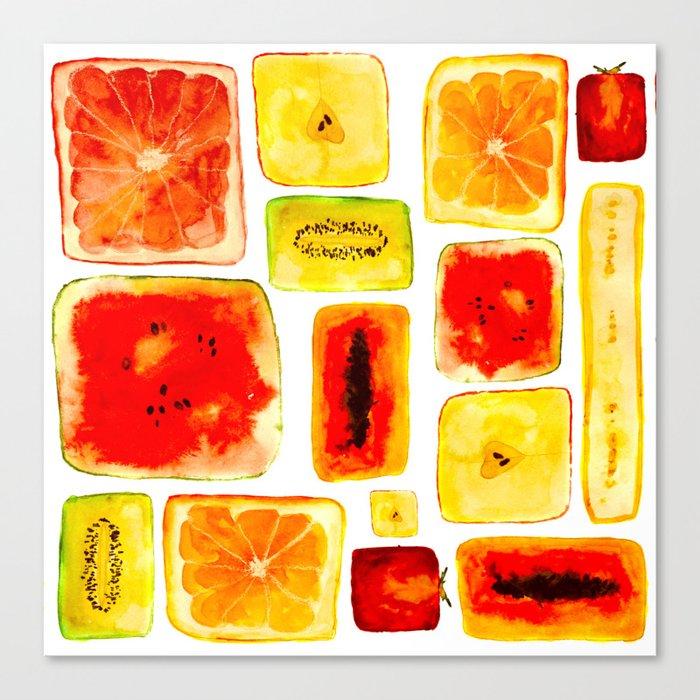 Juicy cubism Canvas Print