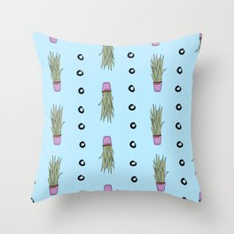 Potted Snake Plant Pattern Throw Pillow