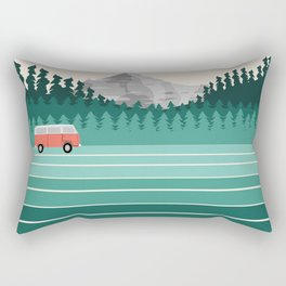 Oregon - retro throwback 70s vibes travel poster van life vacation mountains to sea Rectangular Pillow
