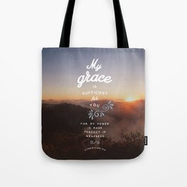 2 Corinthians 12:9 Tote Bag