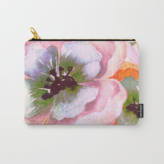 vintage big flower Carry-All Pouch
