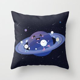 Winter in Space Throw Pillow