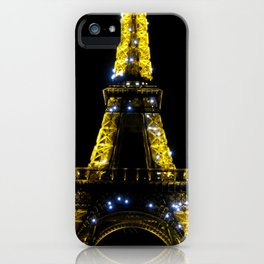 Eiffel Tower at Midnight iPhone Case