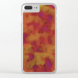 Bloody Aurora Clear iPhone Case