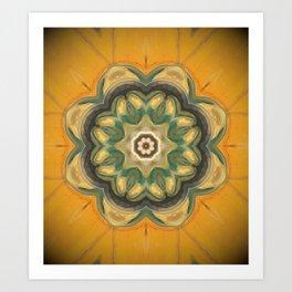 Sunflower // Vibrant Yellow Flower Pattern Healing Energy Mandala Meditation Solar Plexus Chakra Art Print