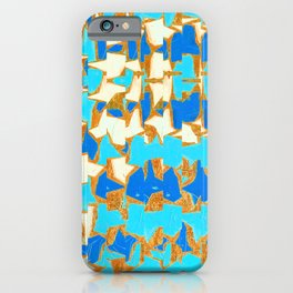 Abstract Irregular Pattern Complimentary Blue and Orange iPhone Case